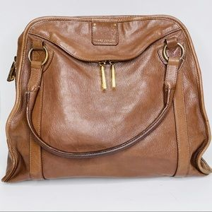 Marc Jacobs Brown Leather Purse Large Gold Detail